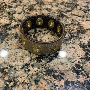 Coach Rivet Leather Bracelet